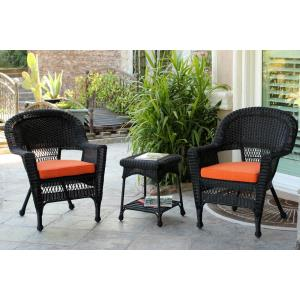36 Inch 3 Piece Chair and End Table Set with Cushion