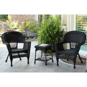 36 Inch 3 Piece Chair and End Table Set without Cushion
