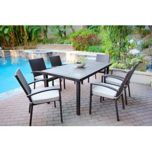 "65.94"" 7 Piece Dining Set with Cushion"