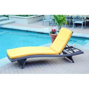 "80"" Adjustable Chaise Lounger with Cushion (Set of 2)"