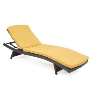 "80"" Adjustable Chaise Lounger with Cushion"