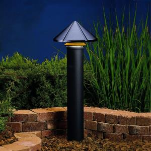 Six Groove - Line Voltage 1 light Path Lamp - 9.5 inches tall by 11.5 inches wide