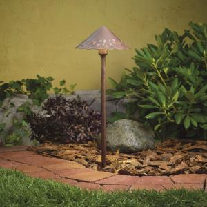22 Inch 2W 2700K 3 LED Hammered Roof Path Light