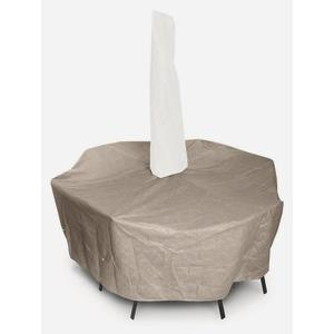 Supersize High Back Dining Set Cover w/umbrella hole