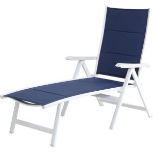 "Everson - 55.1"" Padded Sling Folding Chaise Lounge"