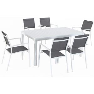 "Harper - 78"" x 40"" 7-Piece Outdoor Dining Set with 6 Sling Chairs and Dining Table"