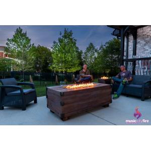 12Th South Trunk Music Responsive Fire Pit Table