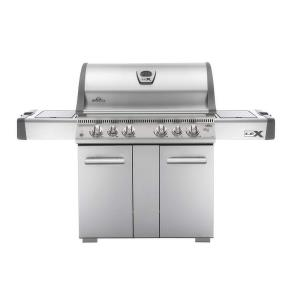 LEX 605 Gas Grill with Side Burner and Infrared Bottom  and  Rear Burners