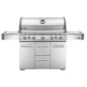 LEX 730 Gas Grill with Side Burner and Infrared Bottom  and  Rear Burners