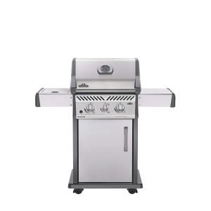 Rogue 365 Gas Grill with Infrared Side Burner, Stainless Steel