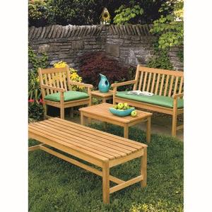 Classic - 35 Inch 4-Piece Table and Bench Chat Set