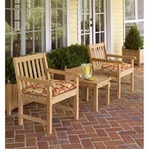 Classic - 35 Inch 5-Piece End Table and Chair set with Cushions