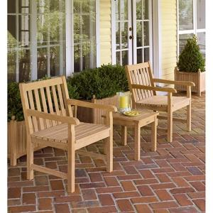 Classic - 35 Inch 3-Piece End Table and Chair Set