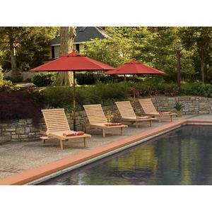Oxford - 78.75 Inch 8-Piece Chaise and Umbrella Set