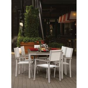 Travira - 63 Inch 7-Piece Table and Sling Chair Dining Set