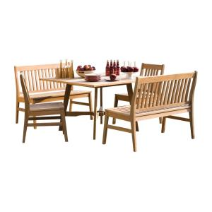 Wexford - 48 Inch 5-Piece Table, Chair, and Bench Dining Set