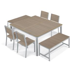 Travira - 60 Inch 7-Piece Table, Chair, and Bench Dining Set