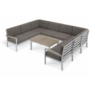 Travira - 61.5 Inch 7-Piece Modular Seat and Table Chat Set