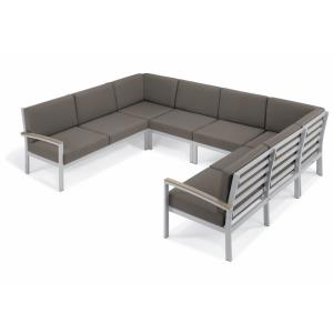 Travira - 61.5 Inch 6-Piece Modular Seat Chat Set - Natural Tekwood