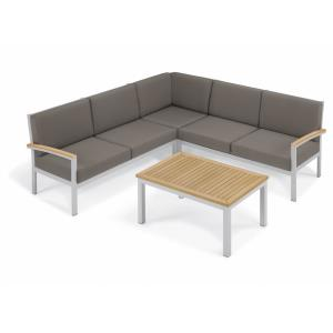 Travira - 61.5 Inch 4-Piece Modular Seat and Coffee Table Chat Set