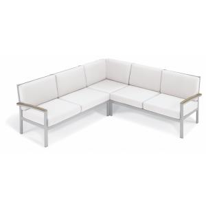 Travira - 61.5 Inch 3-Piece Loveseat Tekwood Chat Set with Cushion