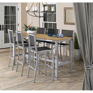 Travira - 7-Piece Bar Table and Chair Set