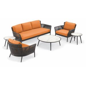 "Nette - 84.5"" 6-Piece Sofa and Tables Set"