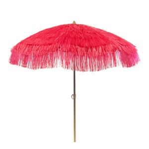 6 ft Pink Tropical Palapa Patio Umbrella