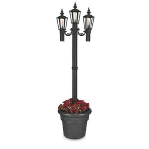 Newport - Three Light Outdoor Citronella Flame Planter Lantern