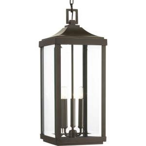 Gibbes Street - Outdoor Light - 3 Light in New Traditional and Transitional style - 9.5 Inches wide by 23.75 Inches high