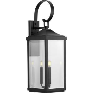 Gibbes Street - Outdoor Light - 3 Light in New Traditional and Transitional style - 9.5 Inches wide by 30.63 Inches high