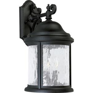 Ashmore - 16.5 Inch Height - Outdoor Light - 3 Light - Curved Panels Shade - Line Voltage - Wet Rated