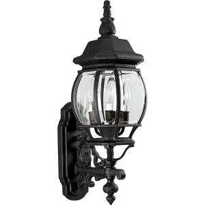Onion Lantern - Outdoor Light - 3 Light - Curved Panels Shade in Traditional style - 7.75 Inches wide by 23.25 Inches high