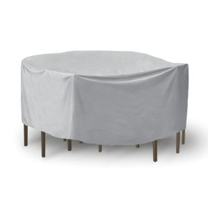 92 Inch Round Table with Chairs Combo Cover with Umbrella Hole