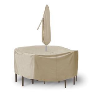 108 Inch Round Table with Chairs Combo Cover without Umbrella Hole
