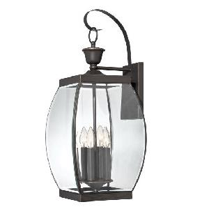 Oasis 26 Inch Outdoor Wall Lantern Transitional Solid Brass