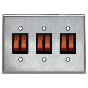 Accessory - Triple Switch Plate Assembly for 2 Stage Patio Heaters