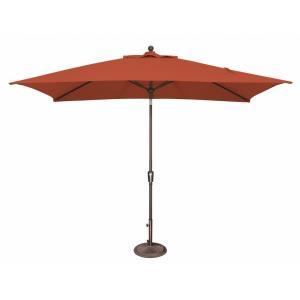 Catalina - 6 Foot x 10 Foot Rectangle Push Button Tilt Umbrella