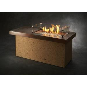 """Artisan - 54"""" Linear Gas Fire Pit Table"""