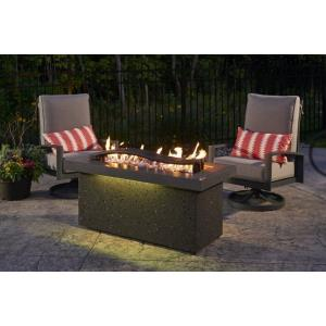 """Boreal - 54"""" Complete Heat Linear Natural GasFire Pit Table"""
