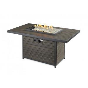 """Brooks - 50"""" Rectangular Gas Fire Pit Table"""