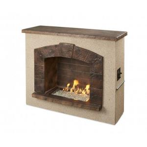 "Stone Arch - 62.75"" Freestanding Gas Fireplace"