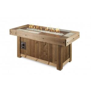 """Vintage - 54.63"""" Linear Gas Fire Pit Table"""