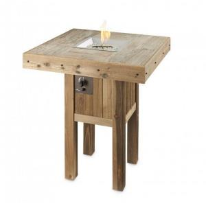 """Westport Pub - 51.25"""" Height Square Gas Fire Pit Table with Intrigue Outdoor Lantern"""
