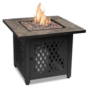 "Endless Summer - 30"" Liquid Propane Gas Outdoor Firebowl with Slate Tile Mantel"