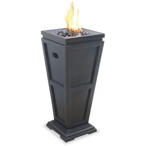 "Uniflame - 28"" Liquid Propane Gas Outdoor Medium Fireplace"