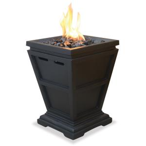 "Uniflame - 25"" Liquid Propane Gas Outdoor Small Fireplace"