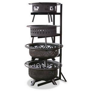 74.5 Inch Outdoor Firebowl Display Stand