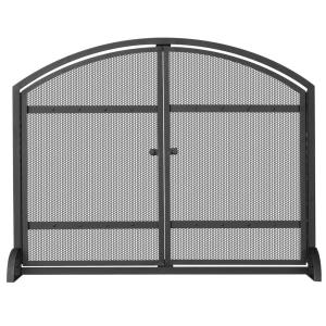 "39"" Single Panel Screen with Doors And Rivet"