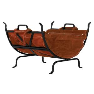22 Inch Log Holder with Leather Carrier
